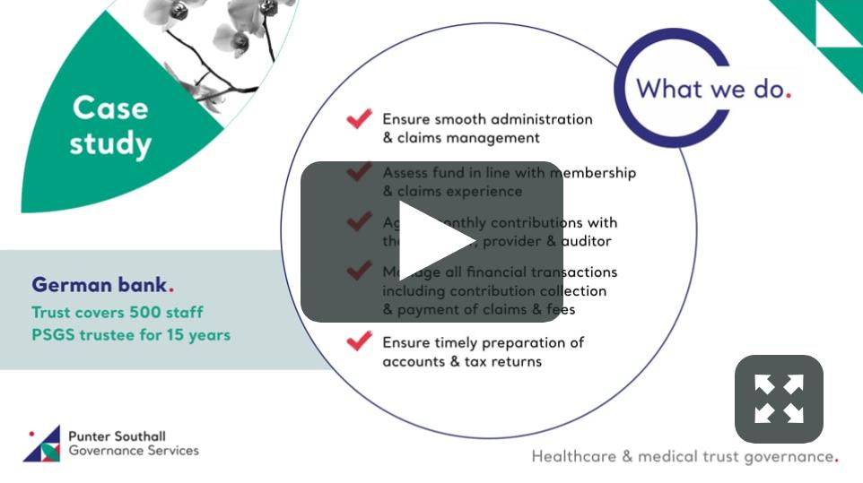 Healthcare & medical trust governance