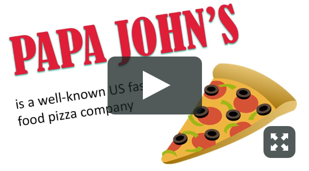 Vimeo video Papa John's
