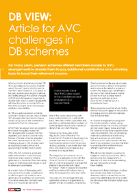 "Image for opinion ""AVC challenges in DB schemes"""