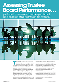 "Image for opinion ""PMI News: Assessing trustee board performance """