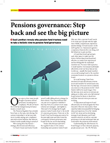 "Image for opinion ""Pensions governance: Step back and see the big picture"""