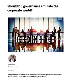 "Image for opinion ""Should DB governance emulate the corporate world?"""