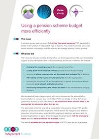 "Image for opinion ""Pension scheme budget efficiency"""