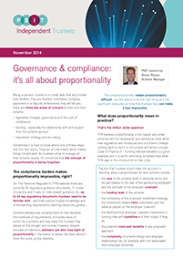 "Image for opinion ""Governance & compliance: it's all about proportionality"""