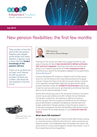 "Image for opinion ""New pension flexibilities: the first few months"""