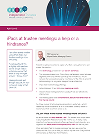 "Image for opinion ""iPads at trustee meetings: a help or a hindrance?"""