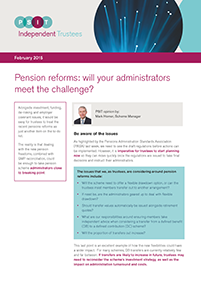"Image for opinion ""Pension reforms: will your administrators meet the challenge?"""