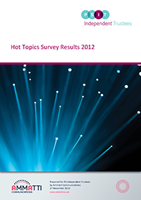 "Image for opinion ""Hot topics 2012 survey results"""