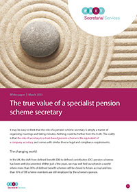 "Image for opinion ""White paper: The true value of a specialist pension scheme secretary"""